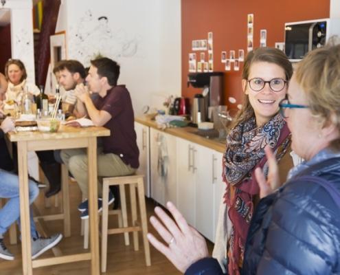 Photo des encordés en échange à table
