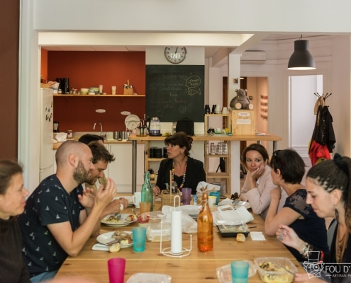 Photo des encordés à table