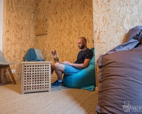 Les espaces siestes et repos à La Cordée